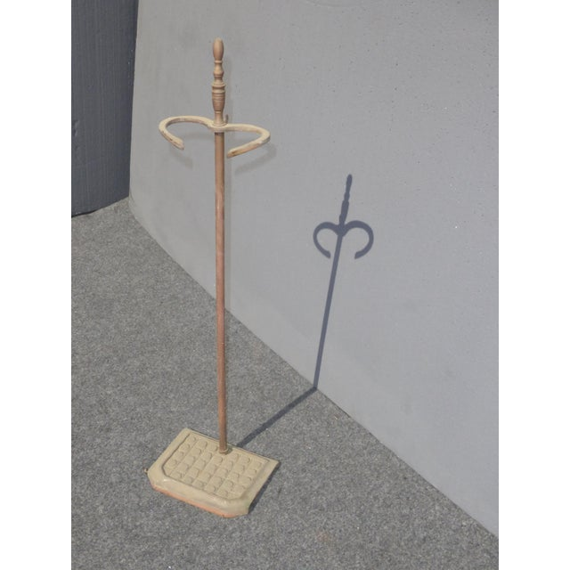Vintage Mid-Century Cast Iron Fireplace Tools Poker Shovel Brush For Sale In Los Angeles - Image 6 of 7