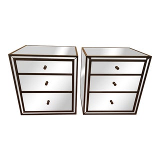 Modern Restoration Hardware Nightstands- A Pair For Sale
