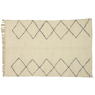 Minimalist Style Berber Moroccan Rug - 7′ × 10′9″ For Sale
