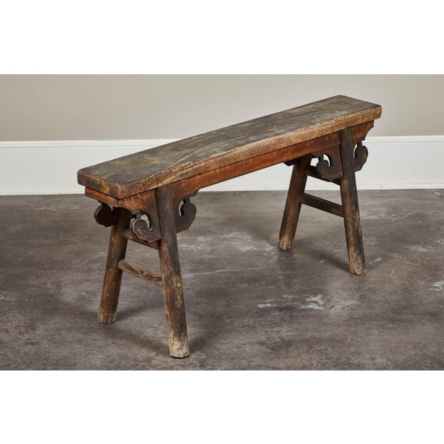 Asian 20th Century Chinese Wooden Bench For Sale - Image 3 of 8