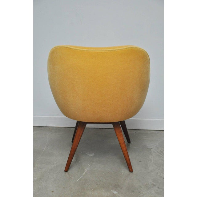 Vladimir Kagan Walnut Frame Lounge Armchair For Sale - Image 9 of 11