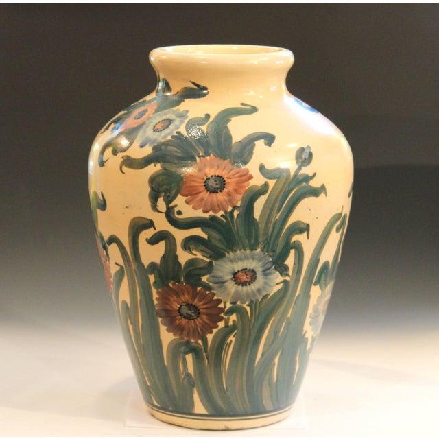 Mid-Century Modern Big Rrp Co Robinson Ransbottom Roseville Garden Urn Pottery Porch Floor Vase For Sale - Image 3 of 11