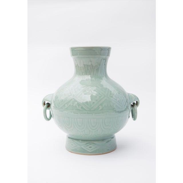 Ceramic 1960's Chinese Porcelain Vase in Celadon Glaze For Sale - Image 7 of 7