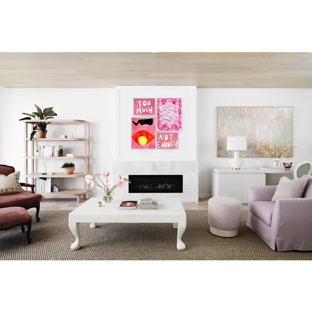 Contemporary Wild Fuchsia Gallery Wall, Set of 4 For Sale - Image 3 of 10
