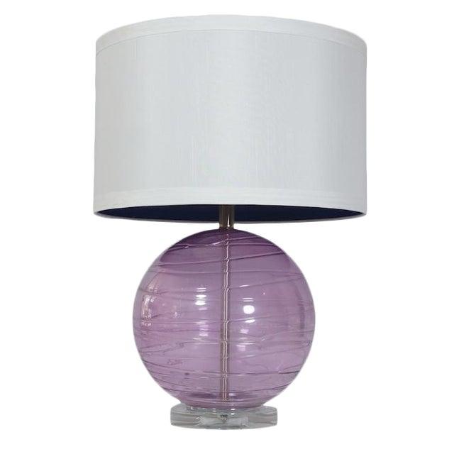 Lavender murano glass table lamp chairish lavender murano glass table lamp aloadofball Image collections