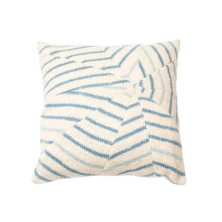Contemporary Knit Shattered Tide Throw Pillow For Sale