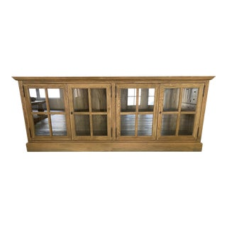 French Solid Wood Casement Sideboard For Sale
