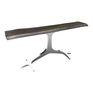 Starship Live Edge Console Table For Sale