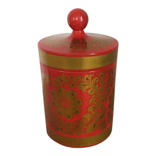 Vintage Ussr Lacquer Canister For Sale