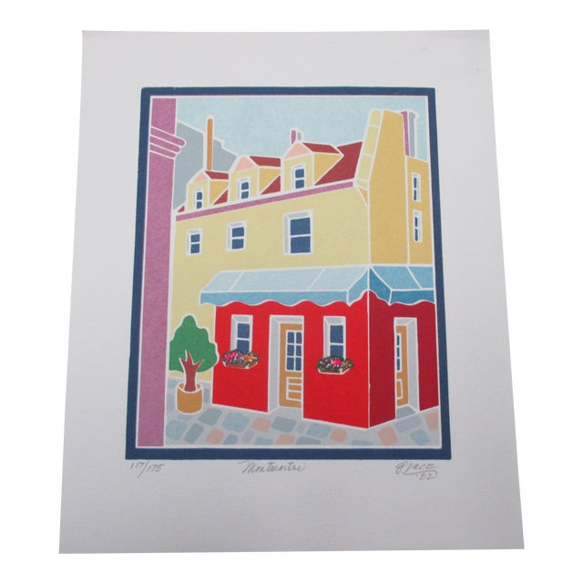 Vintage Lithograph Titled: Montmartre Signed by the Artist: Grace For Sale