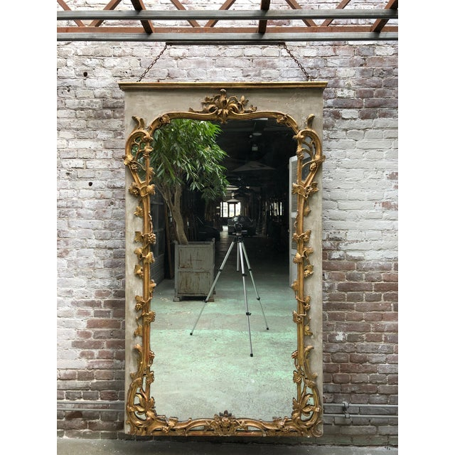 Beautiful French 18th Century Gilt Wood Trumeau Louis XV For Sale - Image 10 of 11