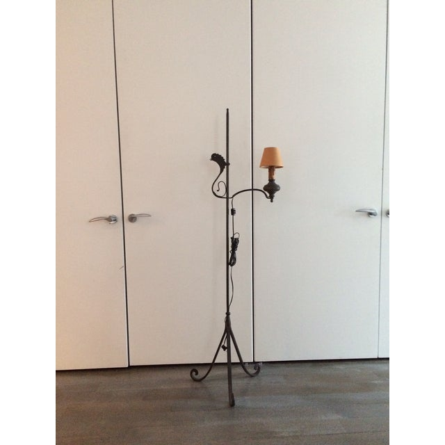 Early 19th Century Wrought Iron and Brass Oil Lamp For Sale - Image 12 of 12
