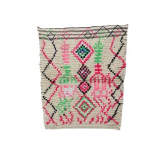 """Moroccan Ourika Wool Rug - 3'7"""" X 4'5"""" For Sale"""