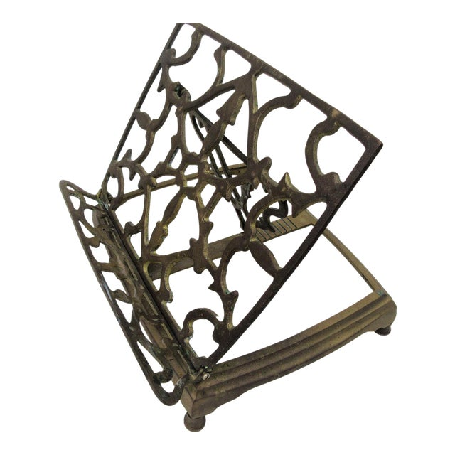 Adjustable Brass Easel Stand - Image 1 of 9