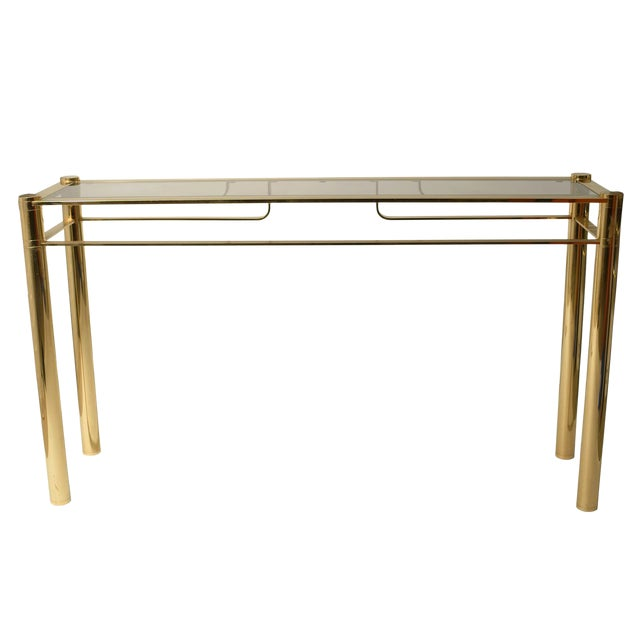 Romeo Rega Gilded Console Table For Sale