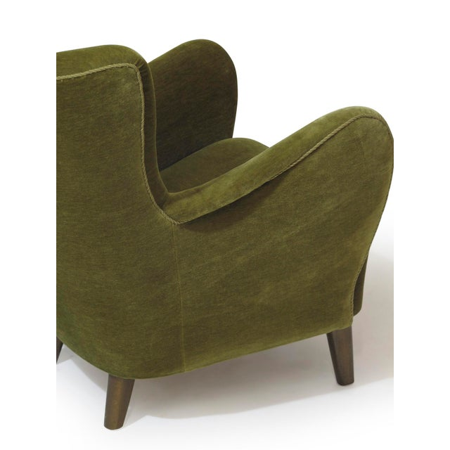 Scandinavian Mohair Lounge Chair For Sale In San Francisco - Image 6 of 11