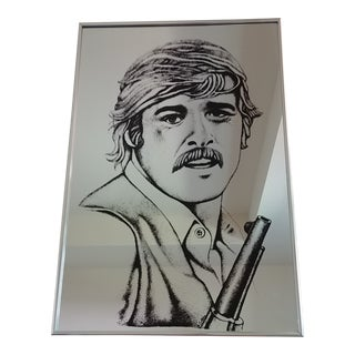 Vintage Robert Redford Mirrored Wall Art For Sale