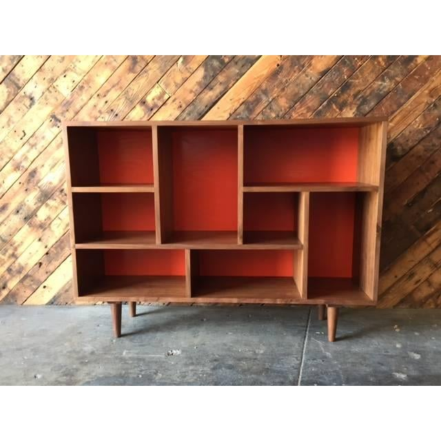 Mid Century Style Walnut Bookshelf - Image 2 of 5