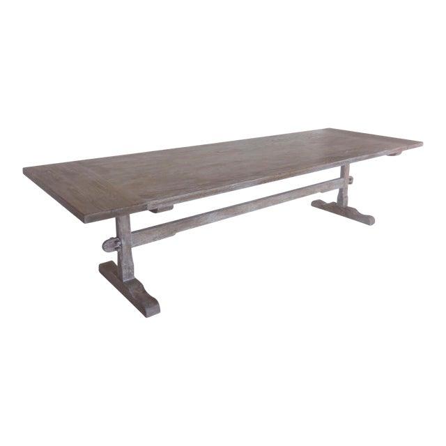 Astounding Custom Oak Classic Trestle Table Andrewgaddart Wooden Chair Designs For Living Room Andrewgaddartcom