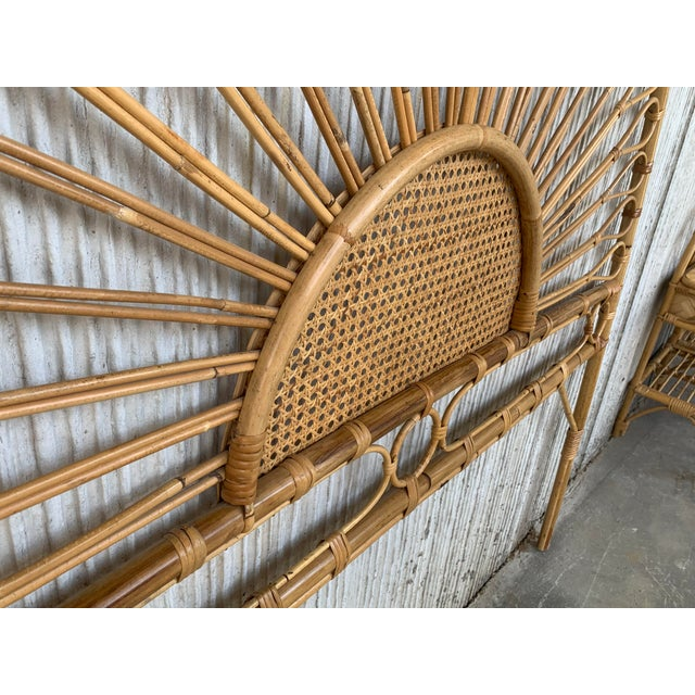 1940s Mid-Century Modern Bamboo and Bentwood Headboard For Sale - Image 5 of 11