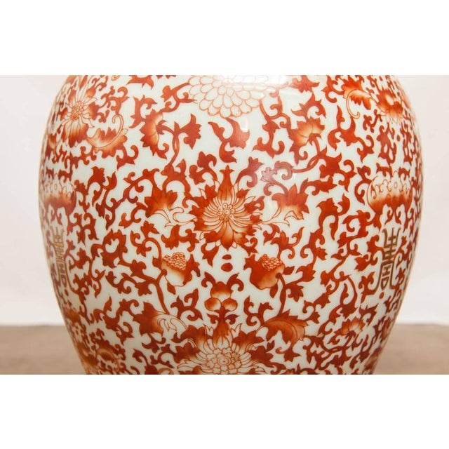 Chinese Large Porcelain Temple Ginger Jars - Pair - Image 3 of 9