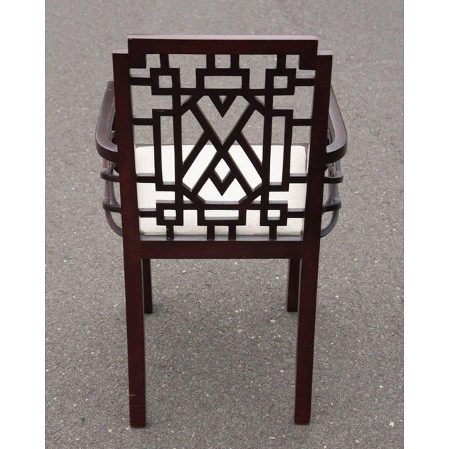 Gorgeous Chinese Chippendale Style Fretwork Dining Chairs - Set of 6 - Image 9 of 10