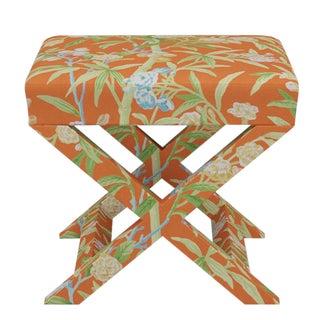 Scalamandre X Bench in Mandarin Lanai For Sale