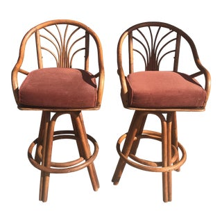 1960s Bentwood Swivel Bar Stools - a Pair For Sale