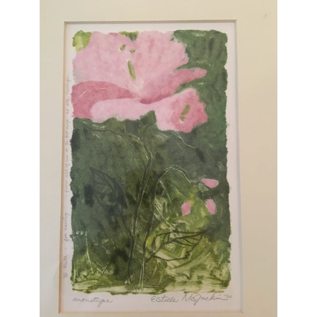 Contemporary Signed Estelle McGuckin Original Framed Monotype Print For Sale - Image 3 of 7