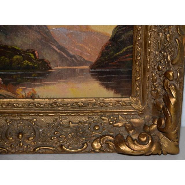 Impressionist Thomas C. Blake Luminous Mountain Landscape Oil Painting C.1920 For Sale - Image 3 of 8