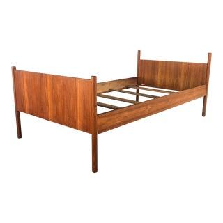 1960s Scandinavian Westnofa Teak Twin Bedframe For Sale