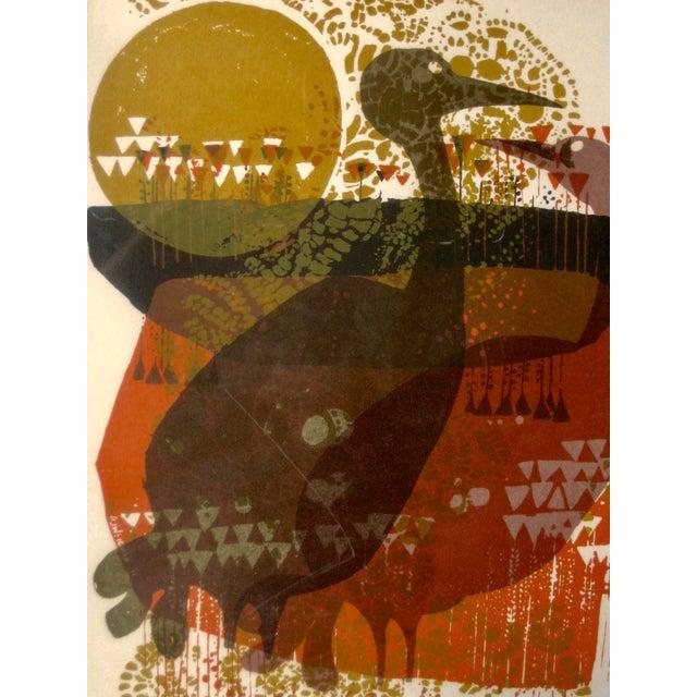 Mid-Century Modern 1971 Mid-Century Modern Print From David Weidman Cranes For Sale - Image 3 of 6