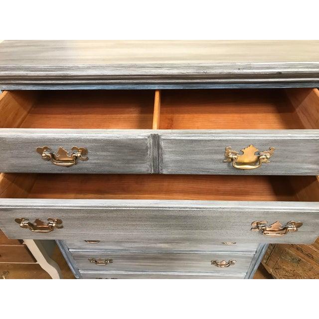 Blu & Gray Tall Boy Dresser - Image 8 of 9