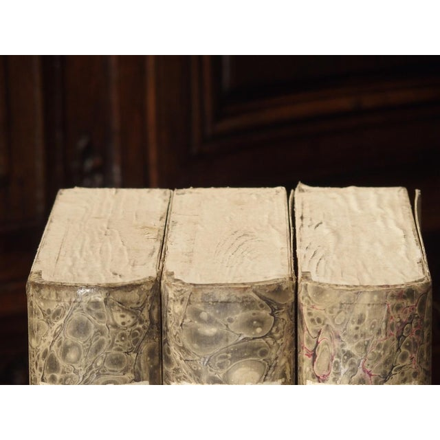Decorative Set of 3 Antique Faux Book Document Holders From Italy, C.1915 For Sale - Image 4 of 12