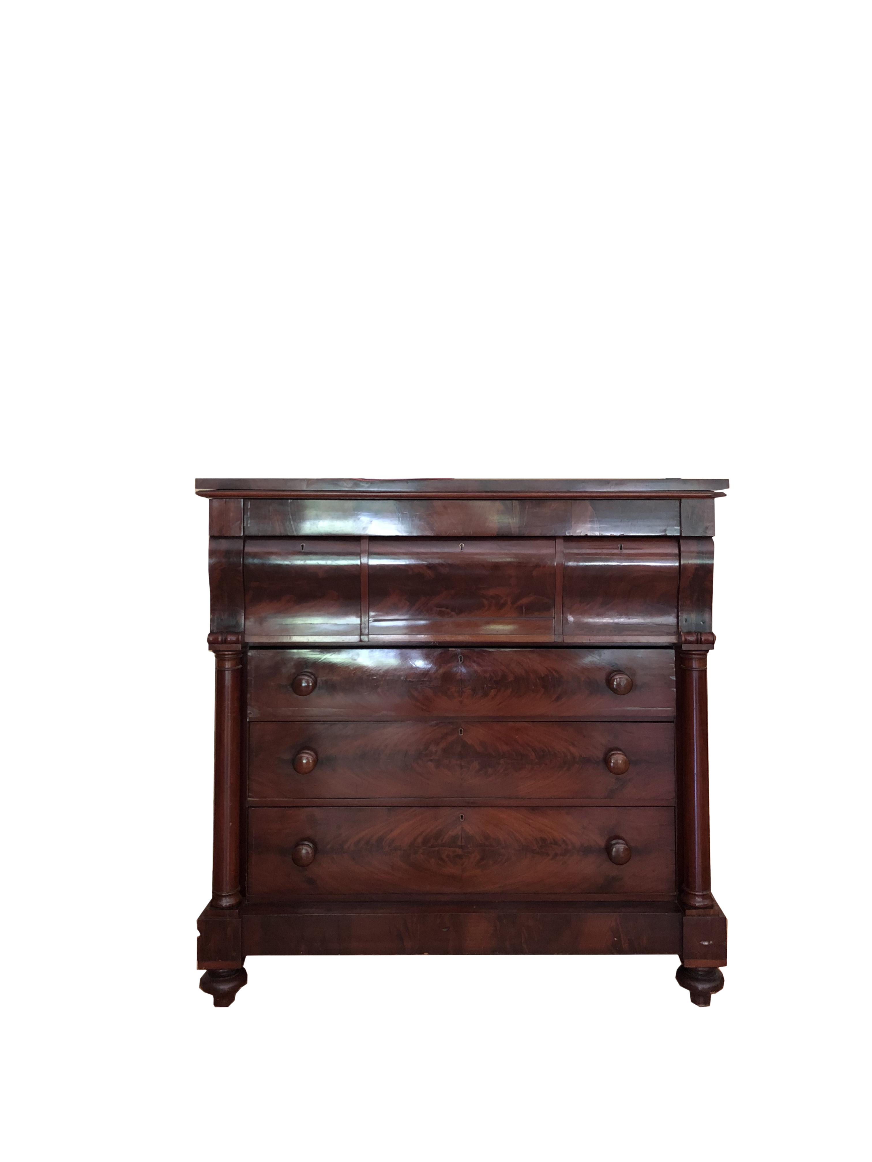 Antique Mahogany Storage Chest   Image 1 Of 12