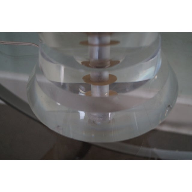 Mid-Century Modern Lucite Lamp by George Bullio For Sale - Image 10 of 10