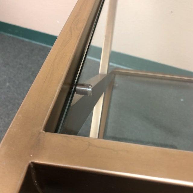 Gold Restoration Hardware Milo Bar Cart For Sale - Image 8 of 11