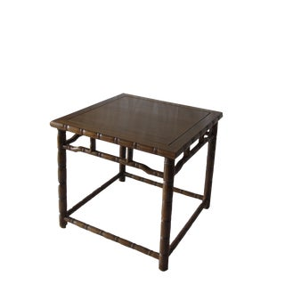 Bamboo Ring Side Table For Sale