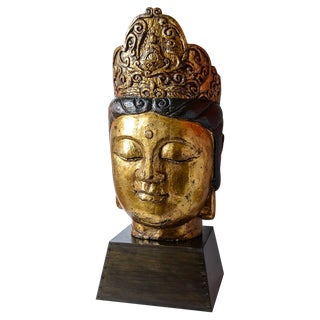 Carved Buddha Head For Sale