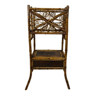 19th-Century Bamboo Magazine/Stand For Sale