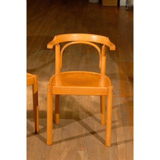 Mid-Century Modern Midcentury Beechwood Armchairs, Hans Wegner - Pair For Sale - Image 3 of 8