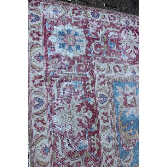 Vintage Tabriz Wool Rug - 7′ × 10′1″ For Sale In Los Angeles - Image 6 of 9