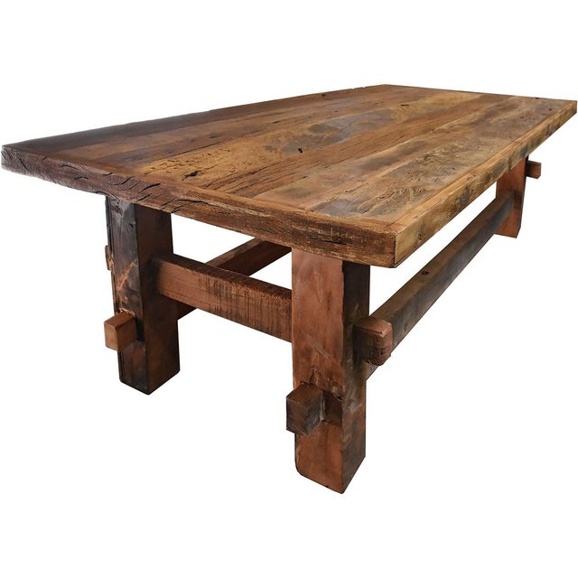 Reclaimed Wood Coffee Table - Image 2 of 3