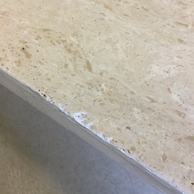 Travertine Marble Dining Table or Desk For Sale In Richmond - Image 6 of 13