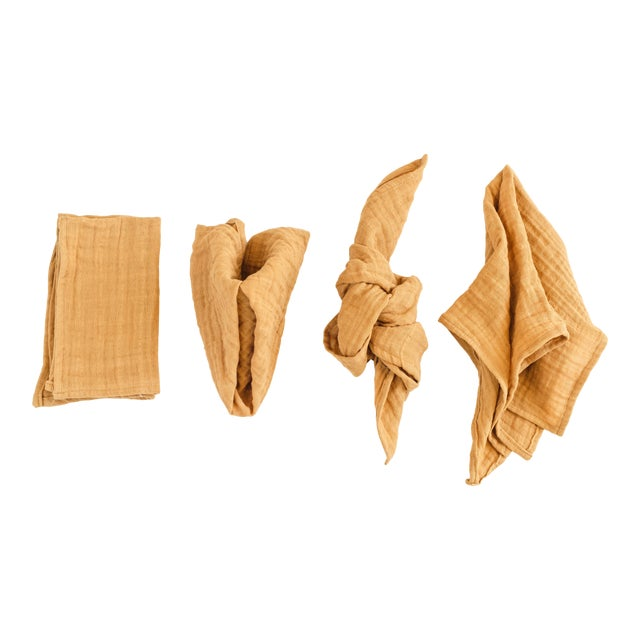 """These napkins are an 18"""" square, and made with 100% organic cotton. Comes in a set of 6."""