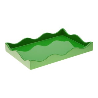 Rita Konig Collection Small Belles Rives Tray in Kermit For Sale