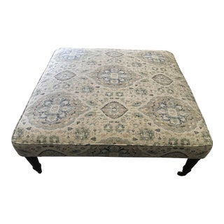 Cocktail Size Transitional Ottoman For Sale