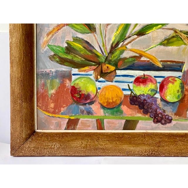 Blush Midcentury Botanical Still Life Painting For Sale - Image 8 of 12