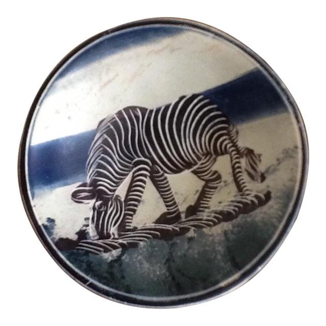 African Zebra Trinket Tray - Image 1 of 11