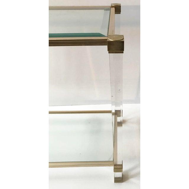 Pierre Vandel Vintage 2 tier Pierre Vandel Console Table. For Sale - Image 4 of 6